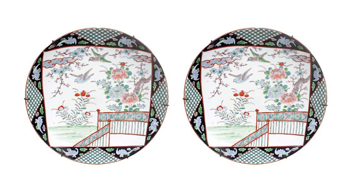 A pair of Imari plates