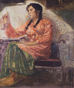 Srietje Membaca (Srietje Reading)